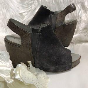 """Naked Feet """"Columba"""" platform wedge sandals"""